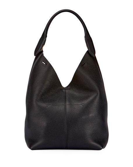 The Bucket Small Circle Hobo Bag, Black