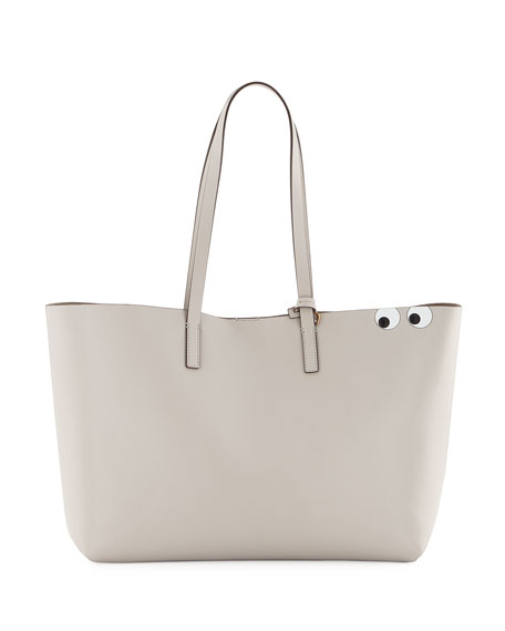 Anya Hindmarch Ebury Eyes Leather Shopper Bag, Off