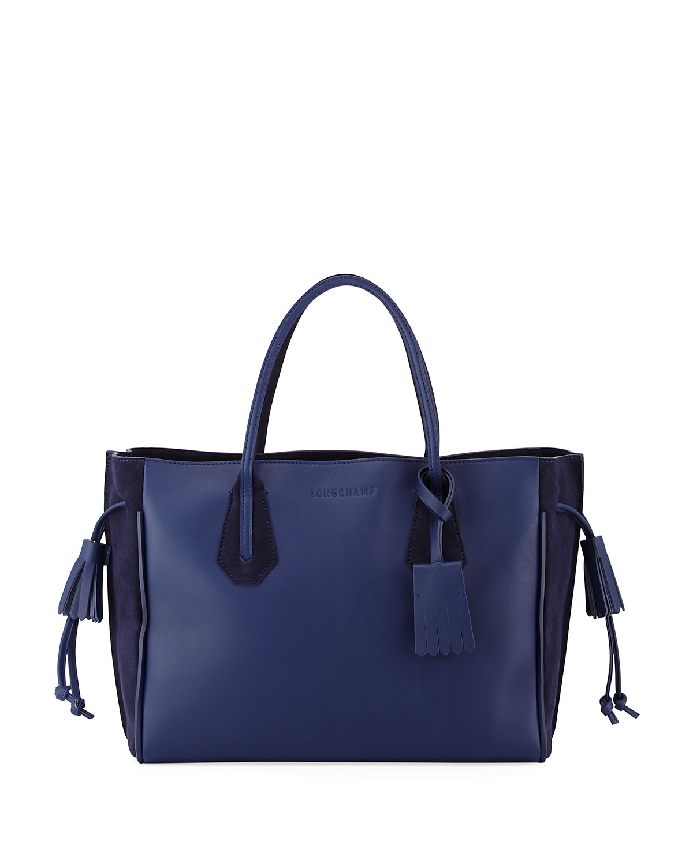 e28e864fc Longchamp Penelope Medium Leather Tote Bag   Neiman Marcus