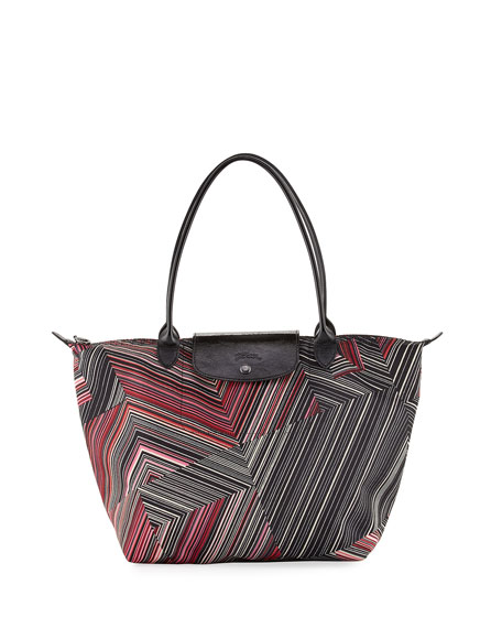 Longchamp Le Pliage Pop Art Large Shoulder Tote