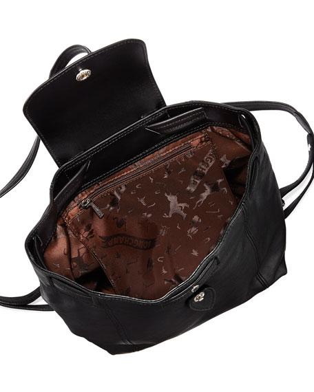Le Pliage Cuir Flap Backpack