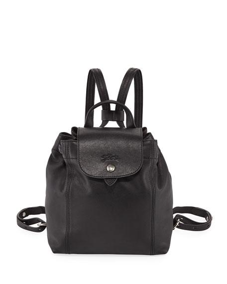 Longchamp Le Pliage Cuir Flap Backpack