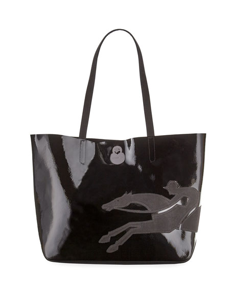 Longchamp Shop-It Medium Patent Leather Tote Bag