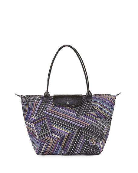 Longchamp Le Pliage OPT Art Large Shoulder Tote,
