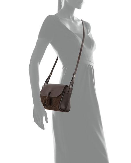 Penelope Python-Embossed Crossbody Bag