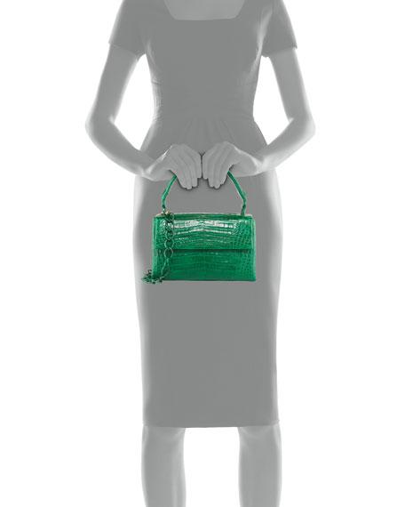 Small Crocodile Double Gusset Top-Handle Bag