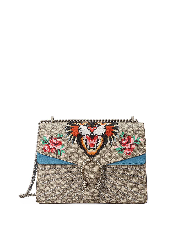 e119bf4ac338 Gucci Dionysus Angry Tiger Bag, Multi | Neiman Marcus