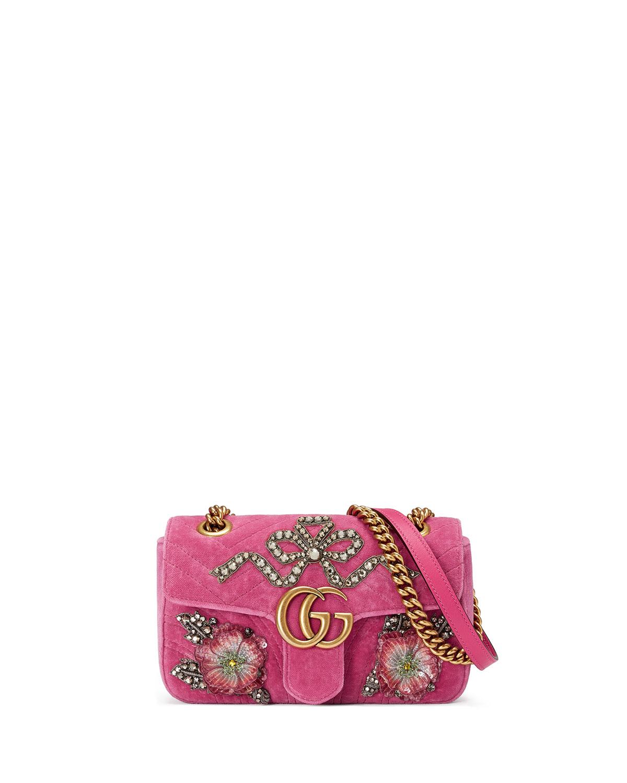 fba07419e70d Gucci GG Marmont Mini Velvet Shoulder Bag | Neiman Marcus