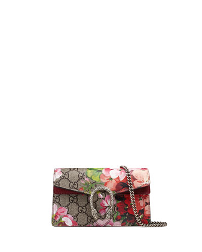Dionysus GG Blooms Super Mini Bag, Neutral/Multi