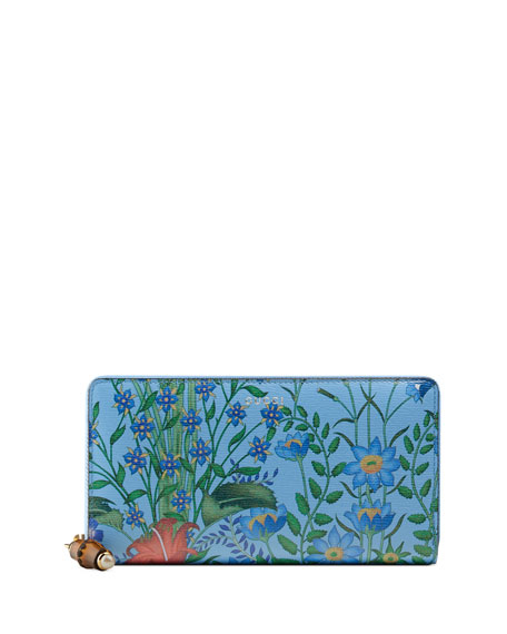 Gucci Flora Continental Zip-Around Wallet