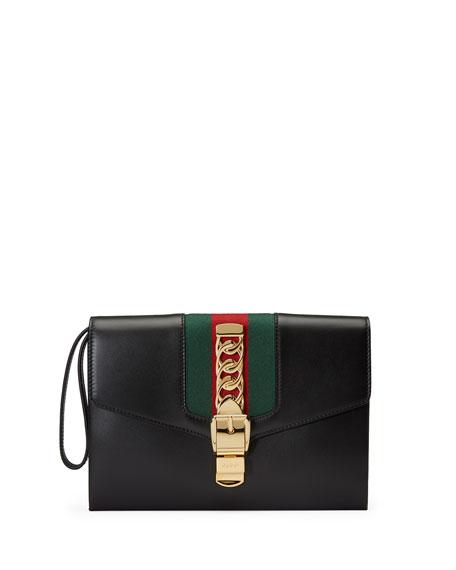 Gucci Sylvie Small Wristlet Clutch Bag