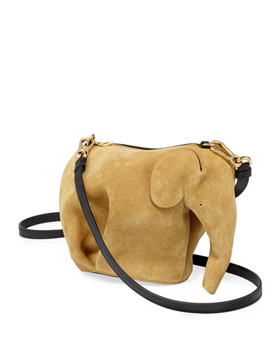 Elephant Suede Mini Bag, Gold