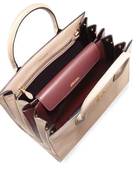 Large Bibliotheque Saffiano & City Calf Bag