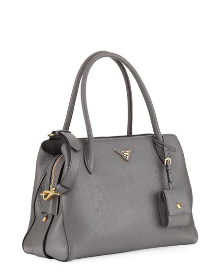Medium Vitello Daino Top-Handle Bag