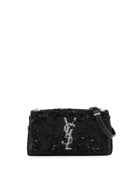Saint Laurent Toy West Hollywood Monogram Sequin Crossbody