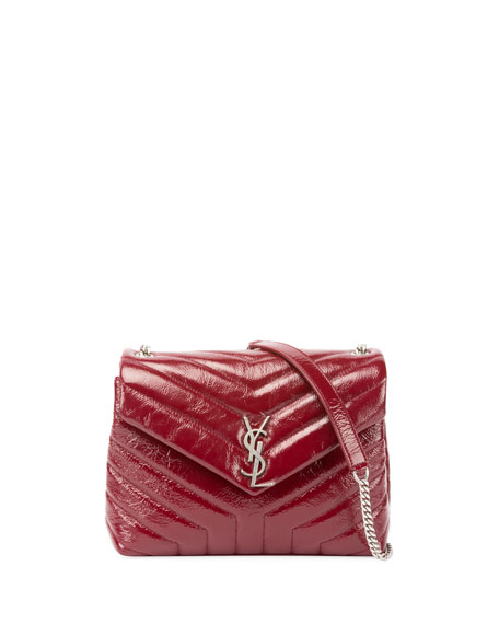 Saint Laurent Loulou Monogram Small Y-Quilted Patent Chain