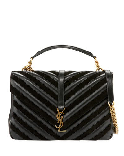 Monogram College Large Quilted Top-Handle Bag