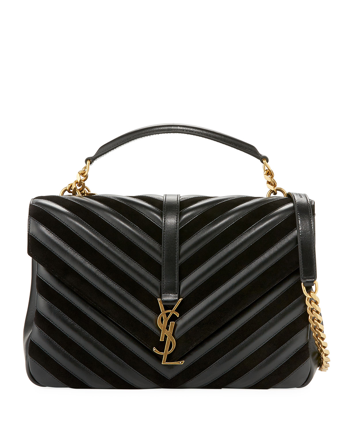 b9021f31b583 Saint Laurent Monogram College Large Quilted Top-Handle Bag