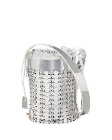 Paco Rabanne 14#01 Chain-Link Mini Mirrored Leather Bucket