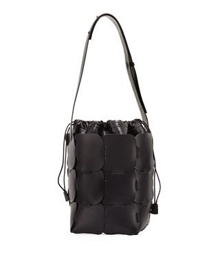 b1a456cabd79 Paco Rabanne 16 01 Medium Vegetable-Dyed Leather Hobo Bag