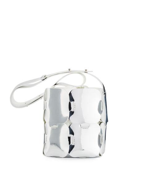 Paco Rabanne 16#01 Mini Patchwork Metallic Hobo Bag