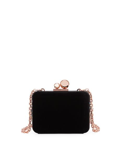 Sophia Webster Vivi Glacia Velvet Box Clutch Bag