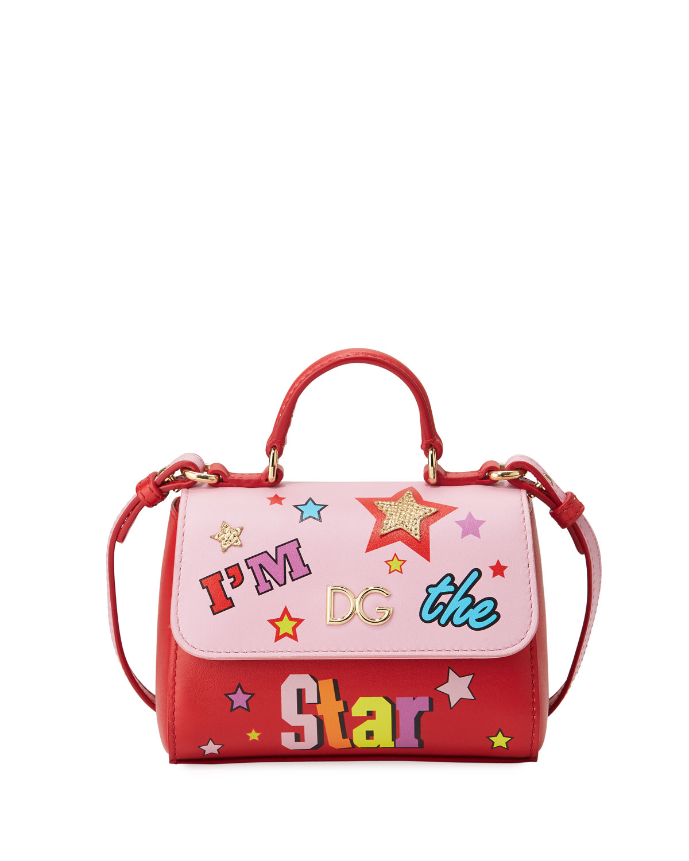 4fc76d6a21bb Dolce & Gabbana Girls' I'm The Star Leather Top-Handle Shoulder Bag ...