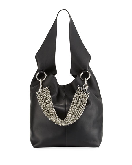 Alexander Wang Genesis Box Chain Hobo Bag, Black