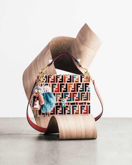 Kan I Medium Velvet Shoulder Bag