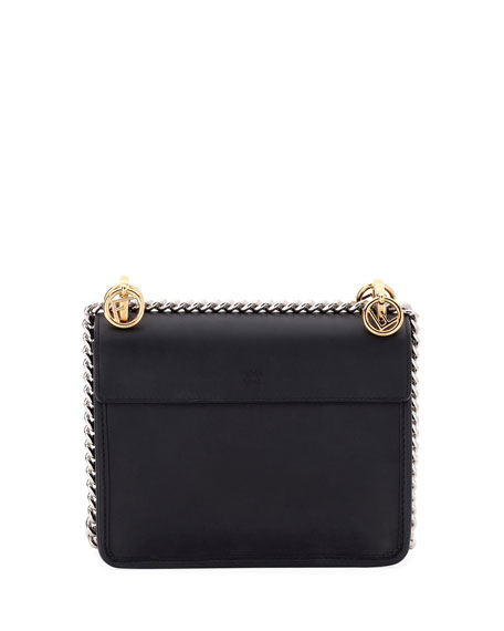 Kan I Small Leather Shoulder Bag, Black