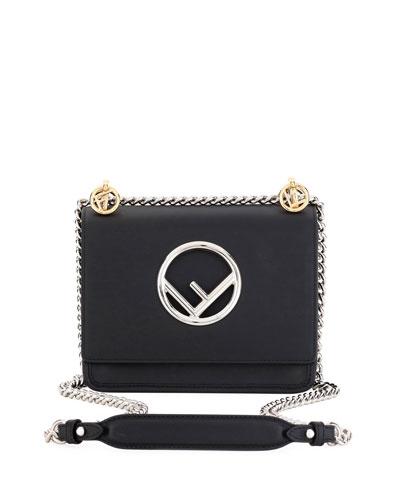 Kan I Small Leather Shoulder Bag, Black