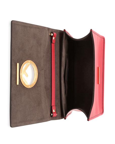 Kan I Small Leather Shoulder Bag, Red