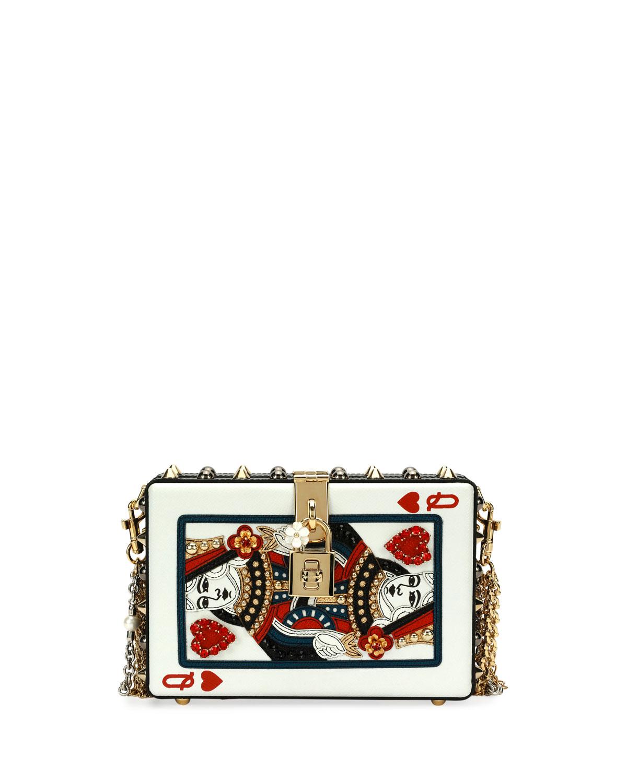 a027ada3c5 Dolce   Gabbana Queen of Hearts Box Clutch Bag