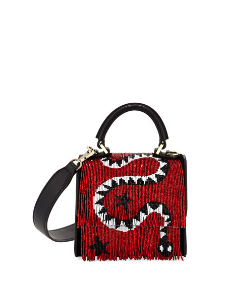 Baby Alex Snake Napa Satchel Bag