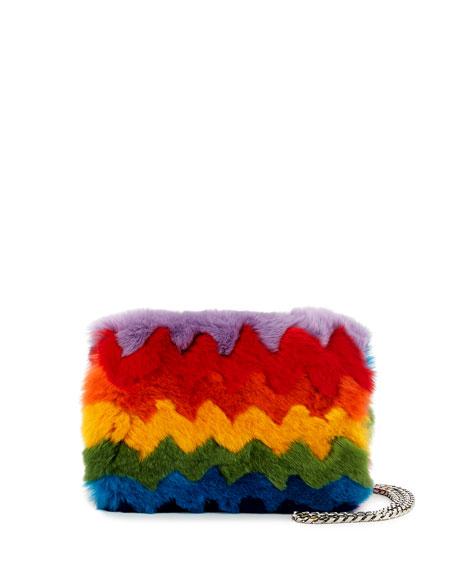 Les Petits Joueurs Ginny Rainbow Fur and Napa
