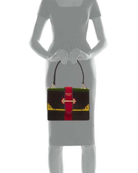 Trompe L'oeil Velvet Buckle Bag
