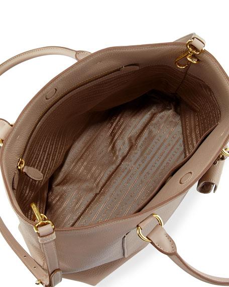 Large Vitello Daino North-South Tote Bag