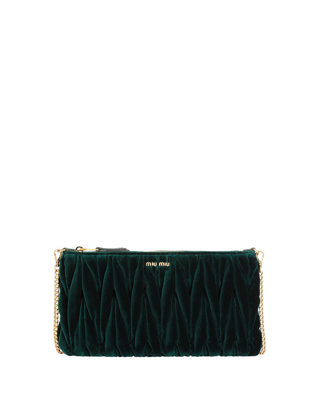 0c7137eb09bf Miu Miu Club Collection Velvet Matelasse Pochette Clutch Bag ...