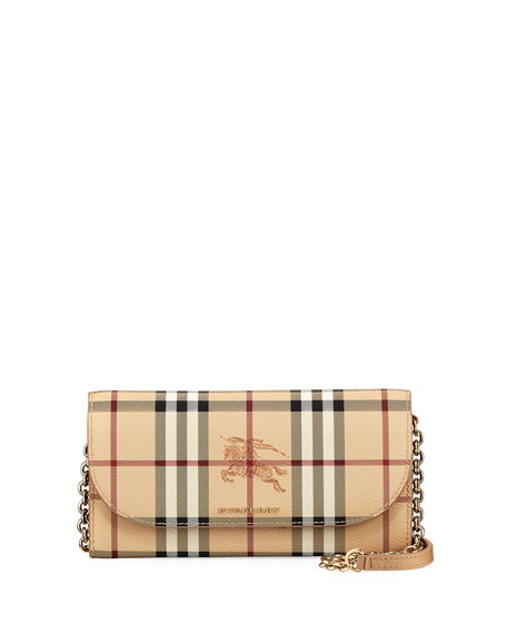 Burberry Henley Haymarket Check Wallet on Chain