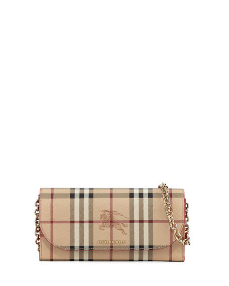 Burberry Henley Haymaket Check Leather Shoulder Bag