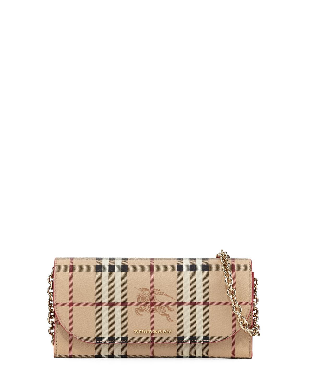 a084bde86091 Burberry Henley Haymaket Check Leather Shoulder Bag