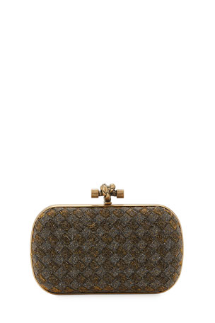 Bottega Veneta Crystal Knot Framed Clutch Bag