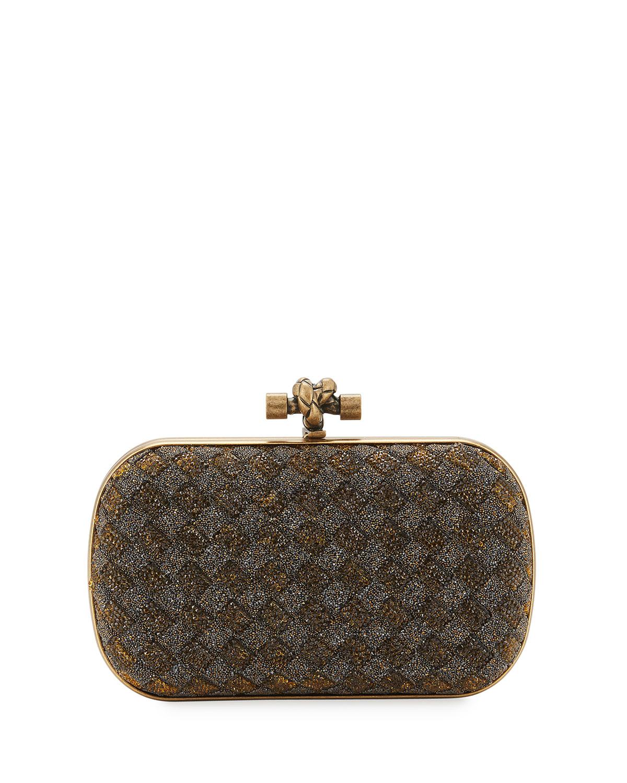 61ab84bb3d19 Bottega Veneta Crystal Knot Framed Clutch Bag