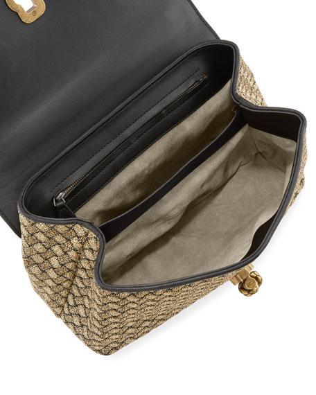 Olimpia Woven Knot Shoulder Bag