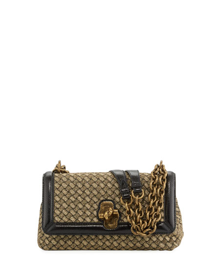 Bottega Veneta Olimpia Woven Knot Shoulder Bag