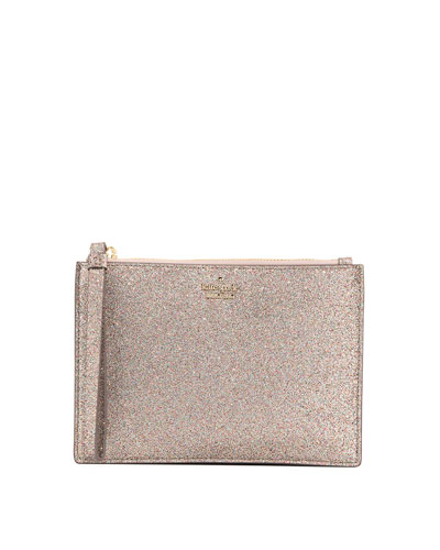burgess court yury glitter pouch bag
