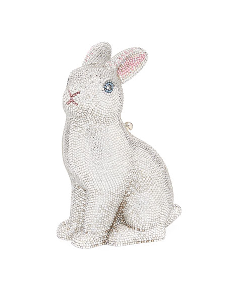 Judith Leiber Couture Ava Bunny Crystal Clutch Bag
