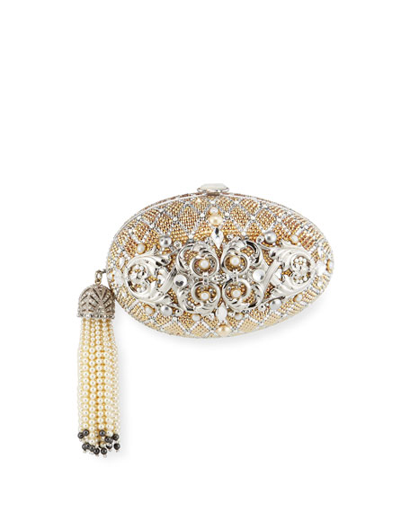 Judith Leiber Couture Crystal Egg Clutch Bag