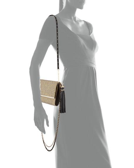 Manhattan Multi-Strap Crystal-Studded Clutch Bag