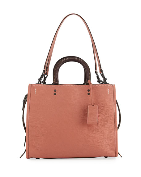 Coach 1941 Rogue Small Leather Tote Bag, Orange
